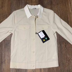 Acne Designer Wool Mix Jacket Coat 34 Off White